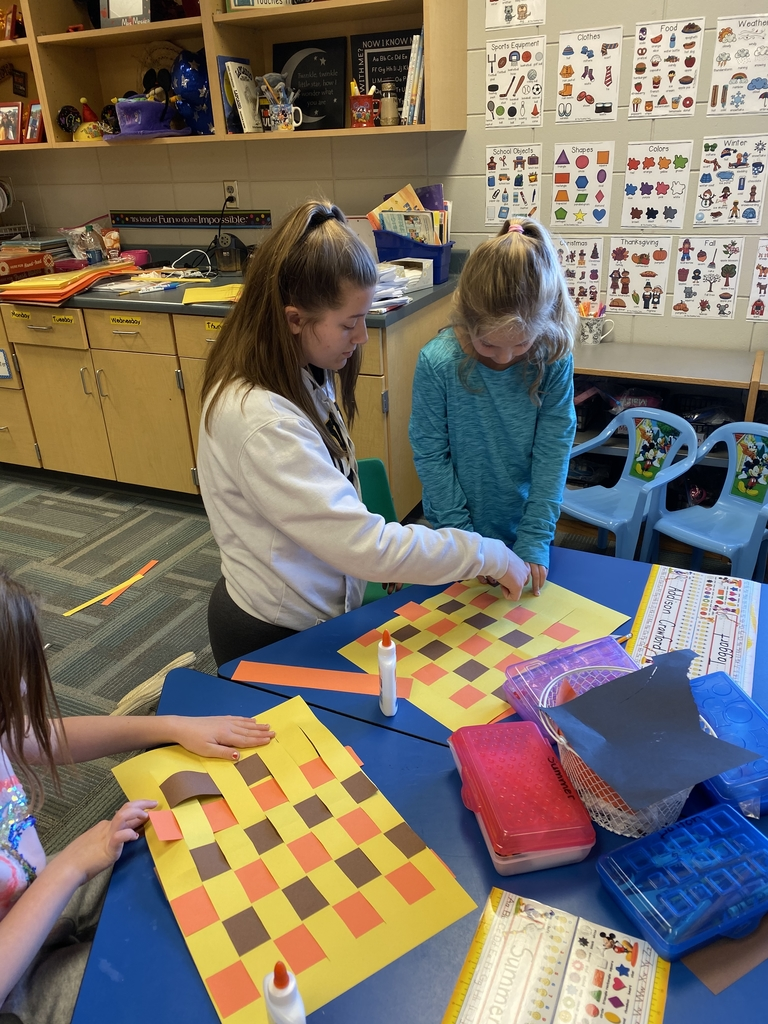 Students working together on a placemat