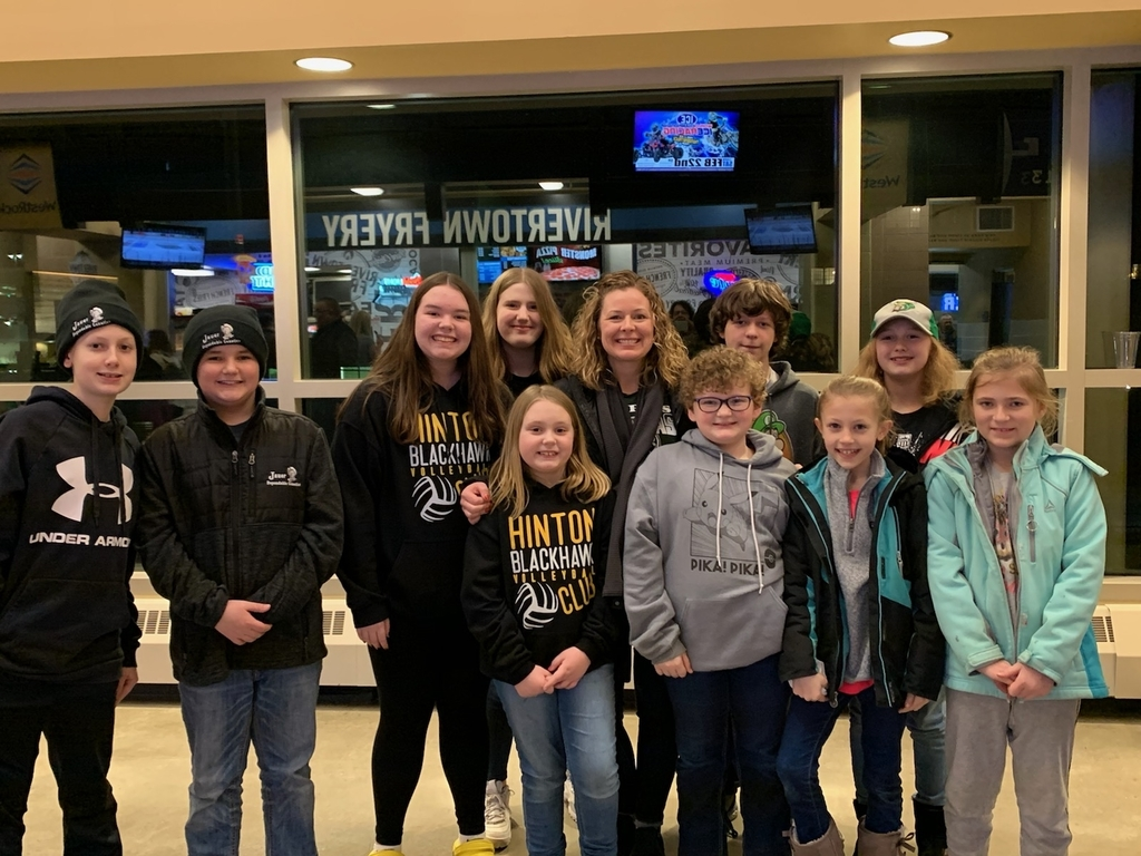 Danica Held and Hinton students at the Musketeers game.