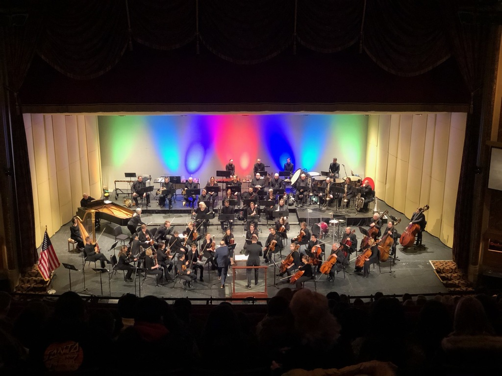 The Sioux City Symphony Orchestra performs for students