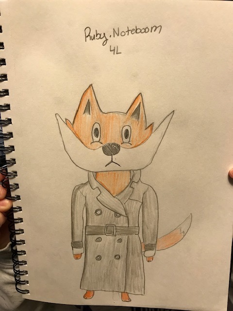 Ruby N. Fox in a Trenchcoat